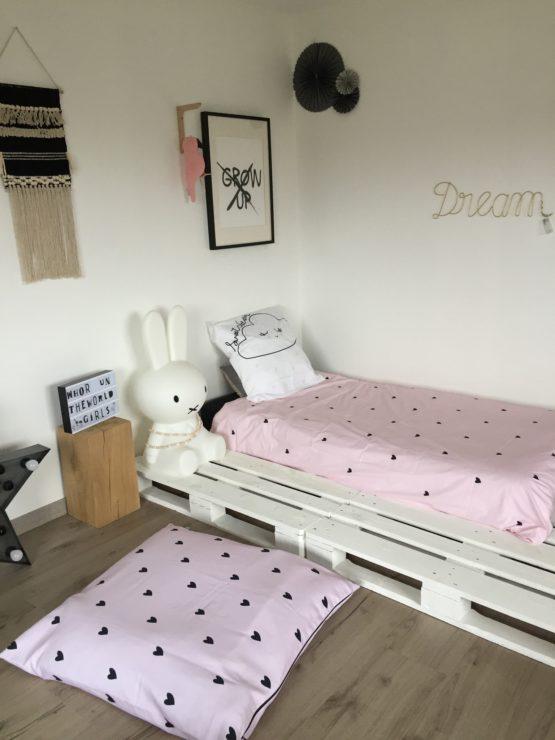 linge de lit enfant Clém Petit Coeur rose