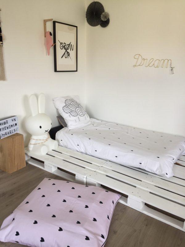 linge de lit enfant Clém Petit Coeur blanc