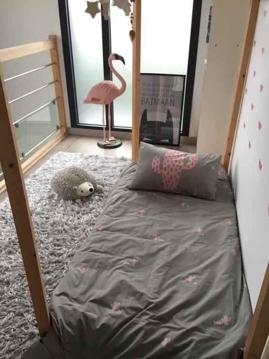 linge de lit enfant Cactus kaki rose