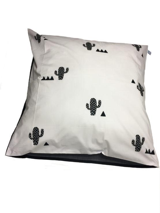 Taie d'oreiller Cactus blanc