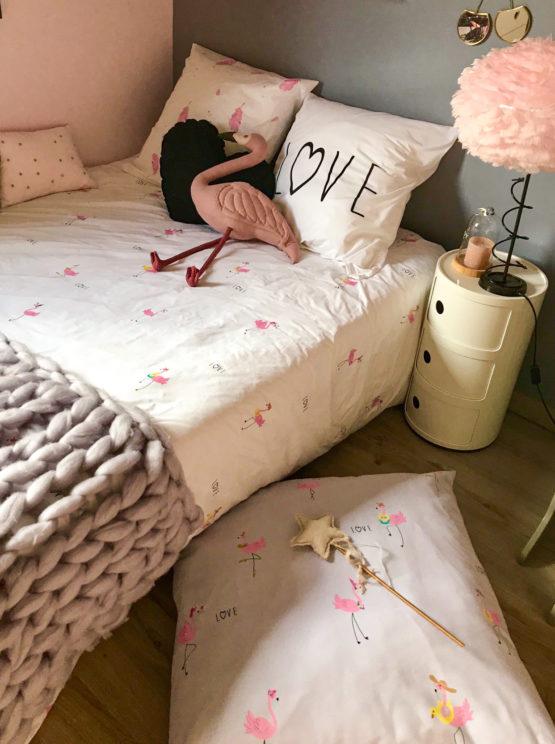 housse de coussin de sol Maï Pink Flamingo côté fou